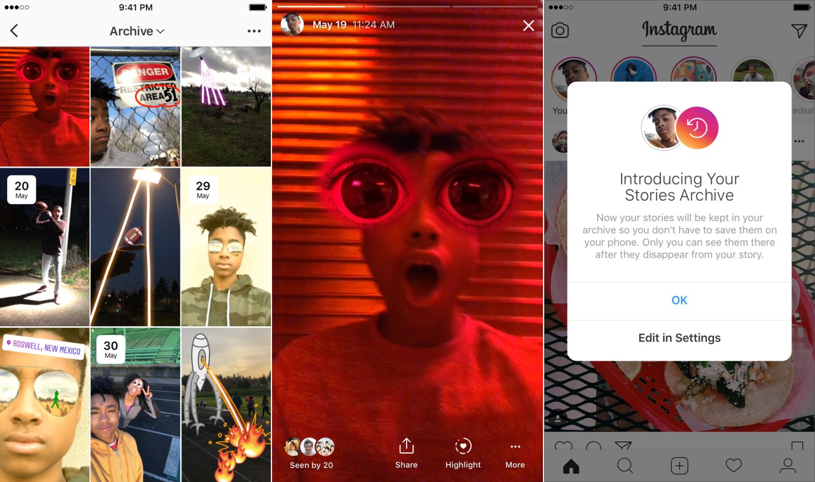 Instagram Introduces Private Archive To Automatically Save 24 Hour Stories