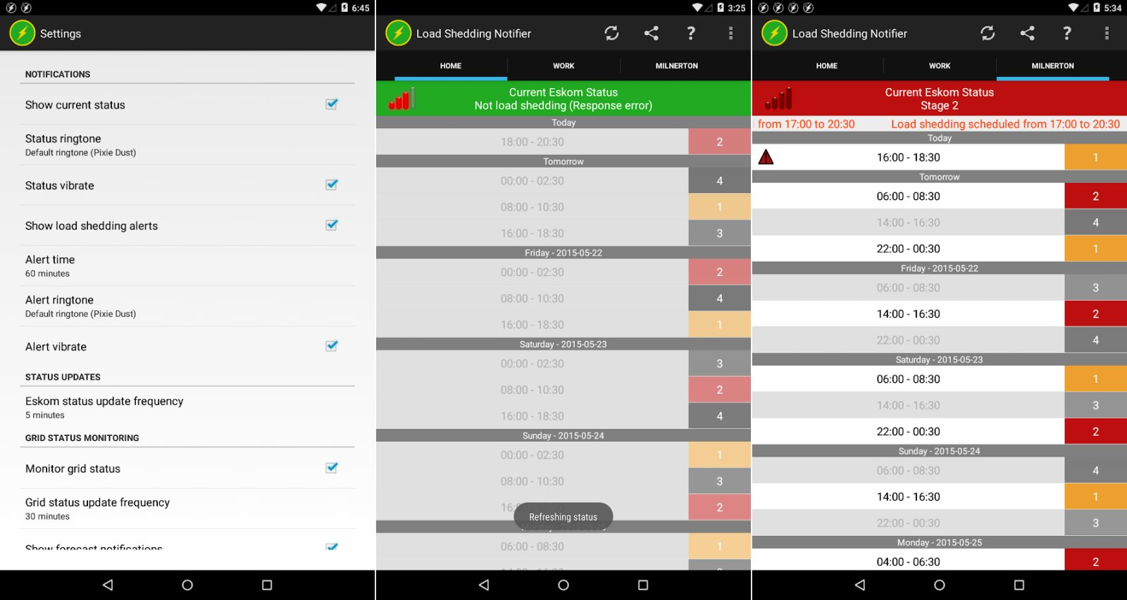 load shedding notifier load shedding apps